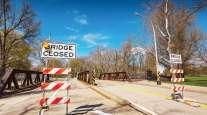Closed bridge in Pennsylvania