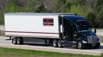 A Stevens Transport truck on Interstate 65 in Shepherdsville, Ky.