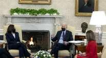 President Biden, Vice President Harris and Speaker of the House Nancy Pelosi