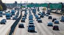 Traffic on I-80 in Emeryville, Calif., last November. (David Paul Morris/Bloomberg News)