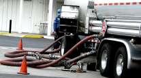 tanker truck unloading diesel