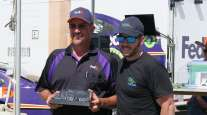 Gragg Wilson of FedEx Freight (left)