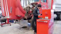 Tooele Tech student works on truck