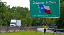 Texas sign and truck