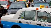 Regular taxi in Tokyo