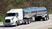 Tank truck on highway