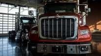 A Navistar International HX Series truck sits at the company's headquarters in Illinois.