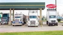 trucks refuel at Jubitz