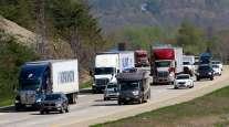 Highway traffic on Interstate 65 in Shepherdsville, Ky.