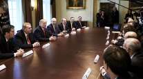 President Trump meets with steel and aluminum executives