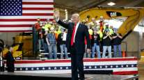 Trump speaks to union about infrastructure bill