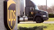 UPS building and truck