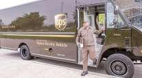 UPS driver and truck