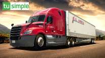 U.S. XPress truck/TuSimple logo