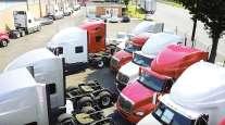 Used International trucks on a Philadelphia lot