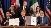 Enrique Pena Nieto, Donald Trump and Justin Trudeau