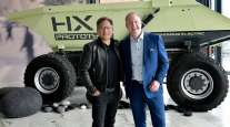 Jensen Huang and Martin Lundstedt