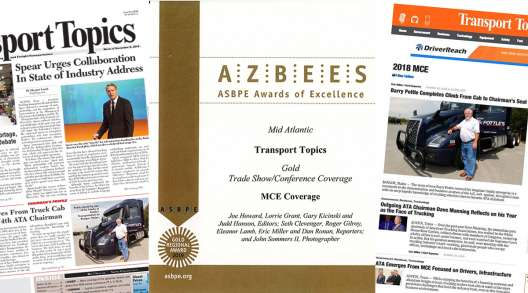 MCE coverage screenshots and Azbee Award