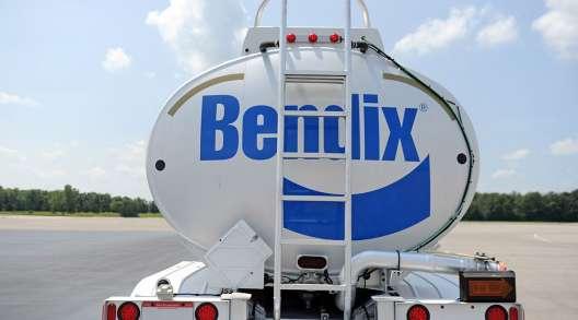 Bendix logo on tanker