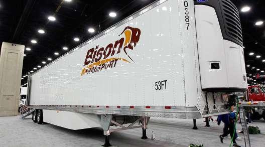 Bison Transport trailer on display
