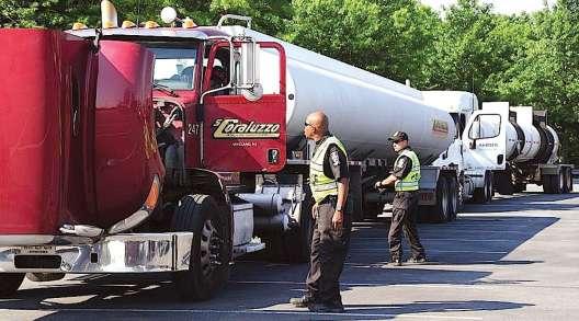 Truck inspection in Landover, Md.