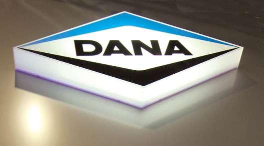 Dana signage at event