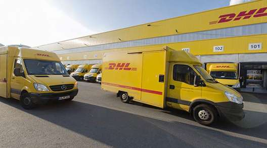 DHL vehicles