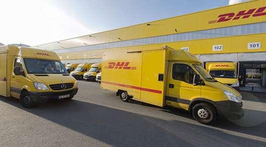 DHL vehicles