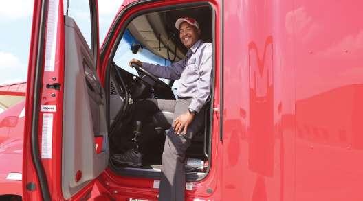 Groendyke Transport driver Antonio Cruz steps into his truck cab. (Groendyke Transport)