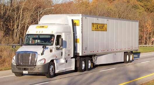 A J.B. Hunt truck