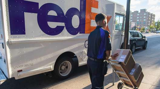 A FedEx Ground truck