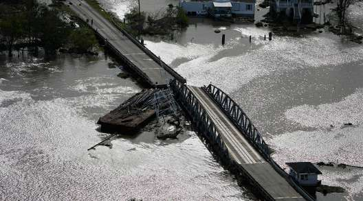 La. bridge damage by Ida