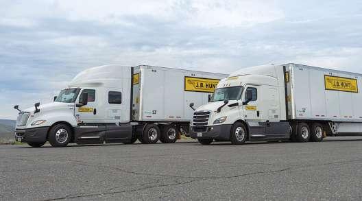 J.B. Hunt trucks