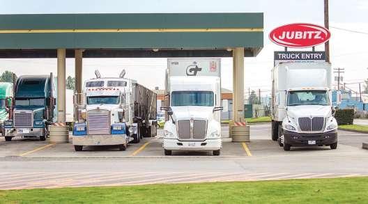 Trucks fuel up at Jubitz