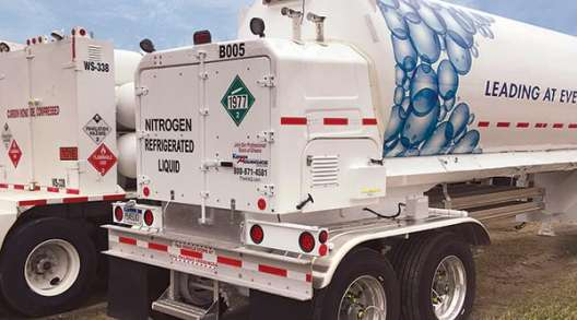 A Merchant Gas Group nitrogen hauler.