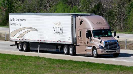 KLLM truck on highway