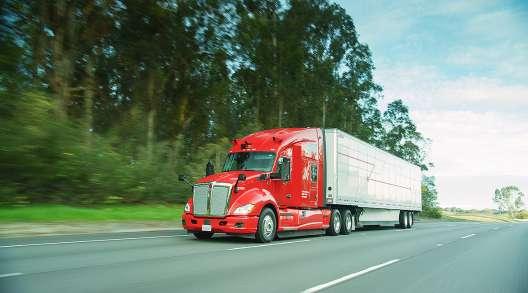 Kodiak Robotics truck on highway