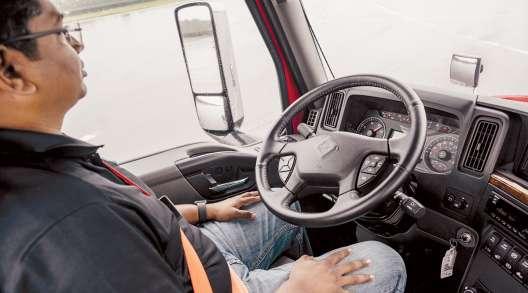 Driver inside ZF demo truck