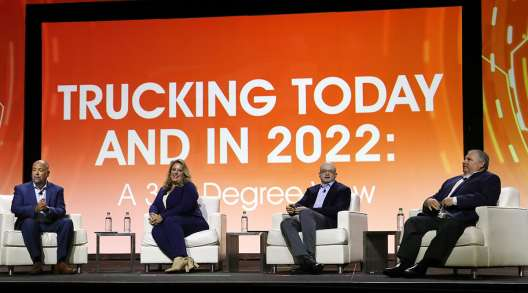 Panelists for state of trucking economy at MCE 2021