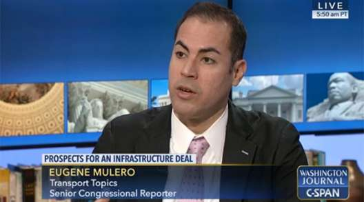 TT's Eugene Mulero will appear on C-SPAN's Washington Journal
