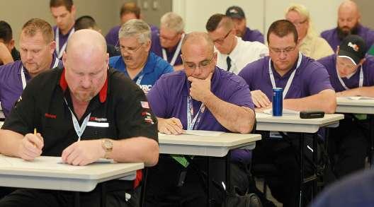 Drivers taking written exam at NTDC
