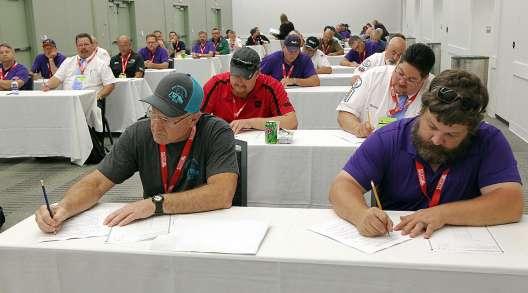 Drivers prepare to take written exam at NTDC