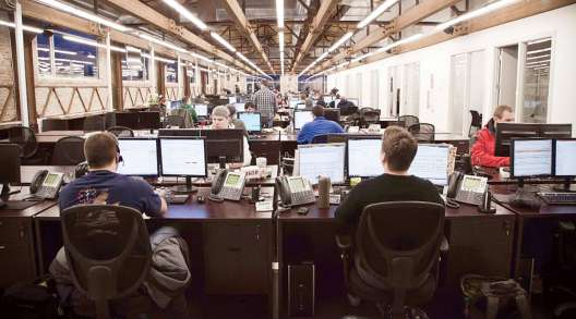Dispatchers at Redwood Logistics' Chicago office