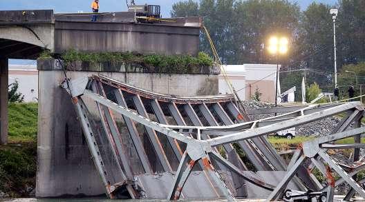 Collapsed Skagit River Bridge 2013