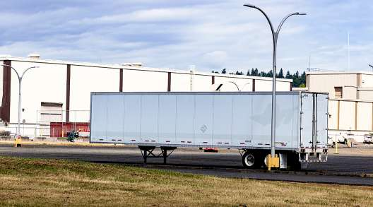 Parked trailer