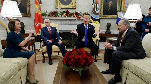 A contentious meeting between President Trump, incoming House Speaker Nancy Pelosi and Senate Minority Leader Chuck Schumer