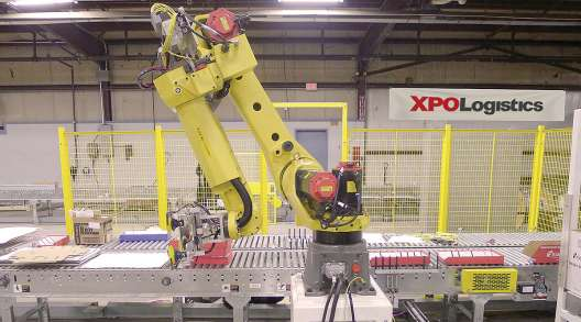 XPO robotics in warehouse