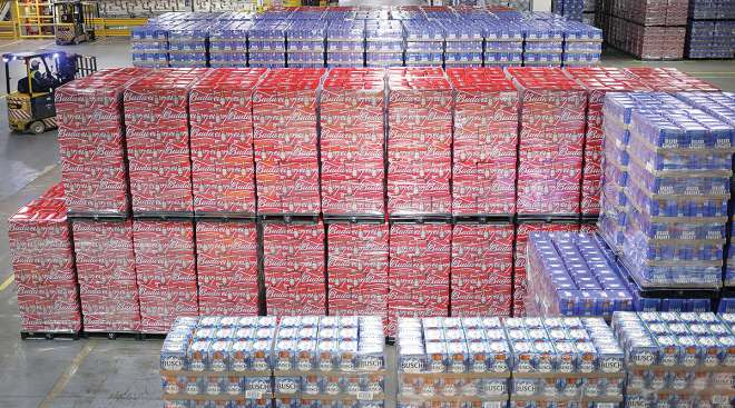 Beer in Anheuser-Busch warehouse