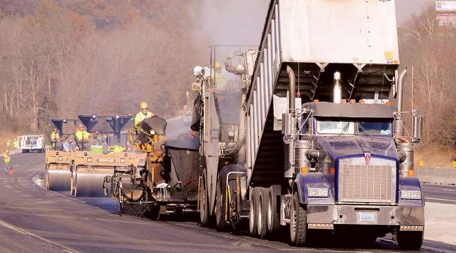 Road work in Indiana
