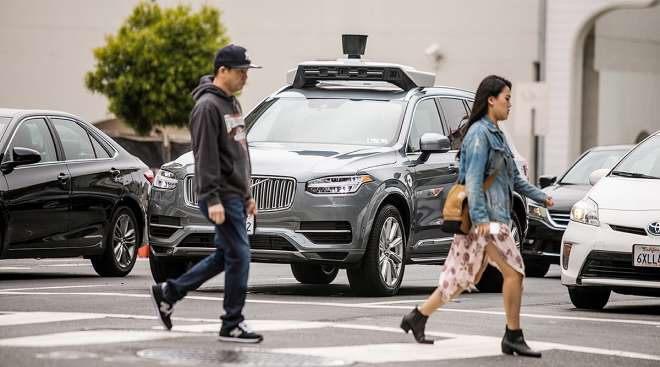 Autonomous car in San Francisco